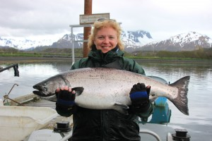 Fishing for King Salmon in Kodiak Island Alaska