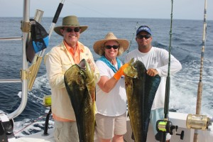 Lisa Montgomery and her team at a luxurious Mahi Mahi fishing vacation in Costa Rica