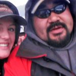 Alaska fishing guide Conrad Peterson with Erin Montgomery