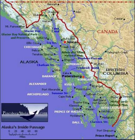 map of alaska inside passage