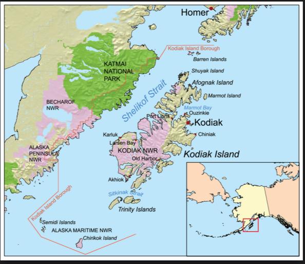 Kodiak Island Map