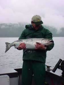 glacier bay fishing for king salmon