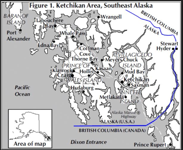 Southeast Alaska -Your Best in Alaska on ofuna pow camp map, camp johnson building number map, prisons in missouri map, columbia river on north american map,