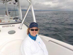 Lisa on the Boat Costa Rica fishing season