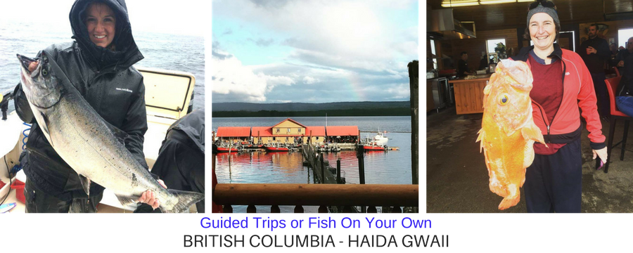 Haida Gwaii Lodge and Women with Fish