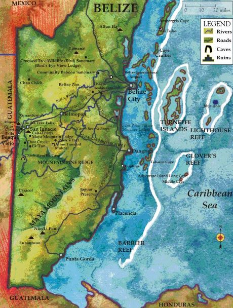 belize-fishing-lodges-country-map
