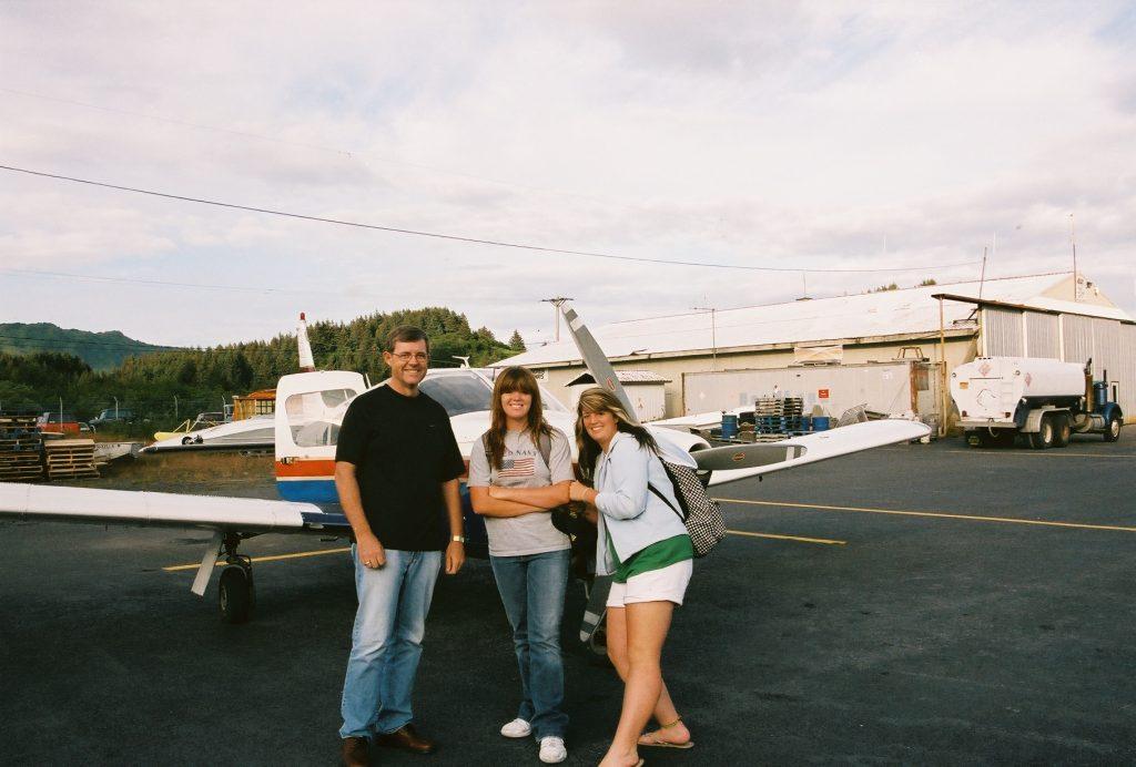 Family fishing vacation air travel