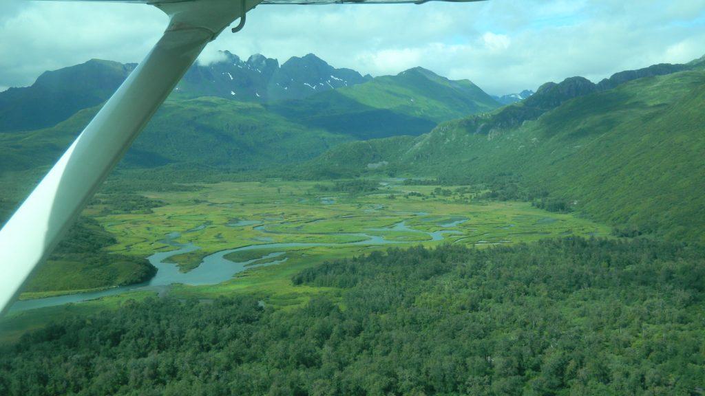 Family fishing vacation Kodiak flight 2