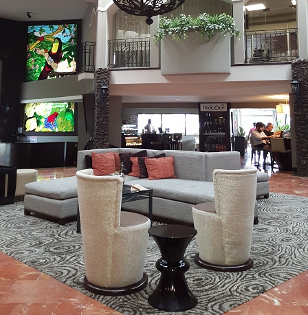 Doubletree Lobby Costa Rica Fishing Trip