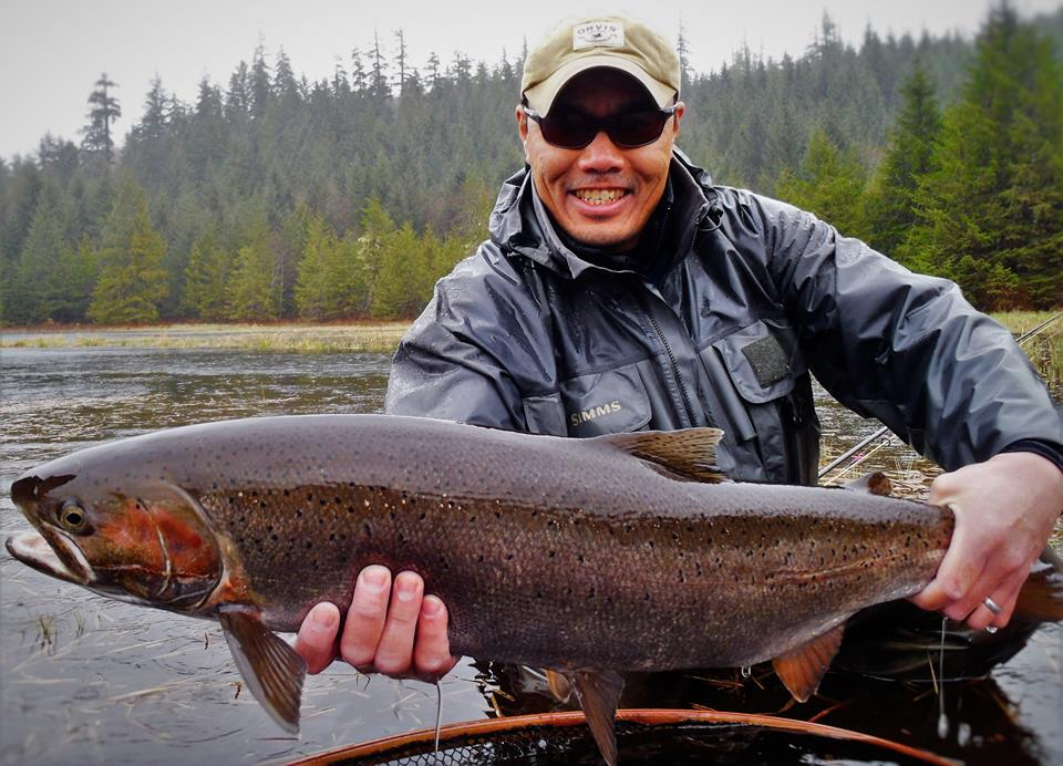 Prince of Wales Fly Fishing Jay with Fish