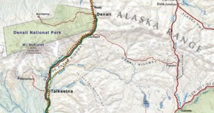 Luxurious Fishing Vacations Alaska Train Map