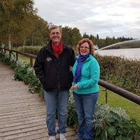 Luxurious Fishing Vacations Alaska Train Lisa and Bill in Fairbanks