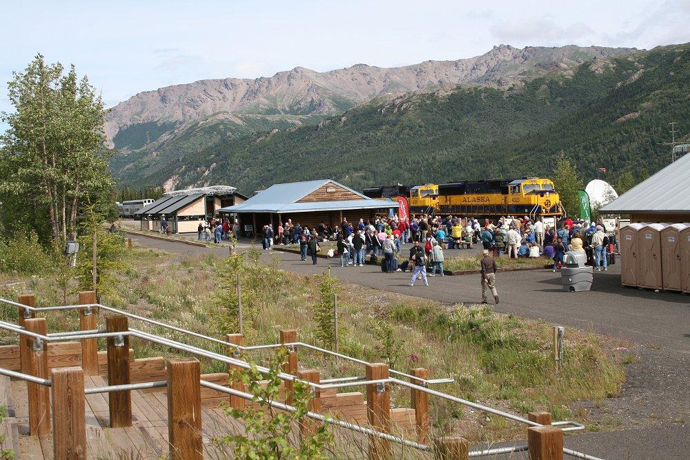 Denali National Park train depot