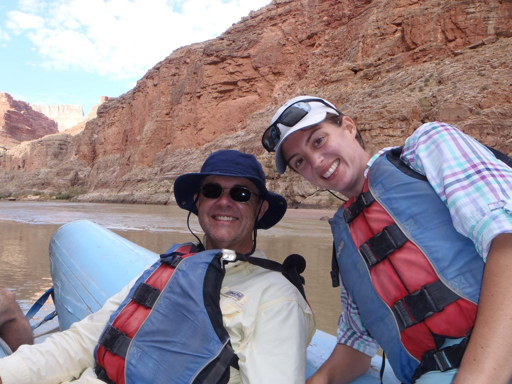 Father's Day Gift Bill and Erin rafting the Colorado River