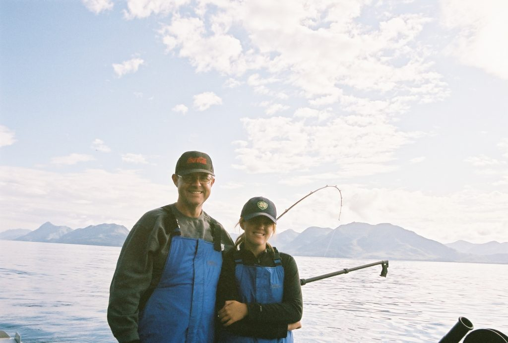 Father's Day Gift Bill and Alex fishing in Alaska
