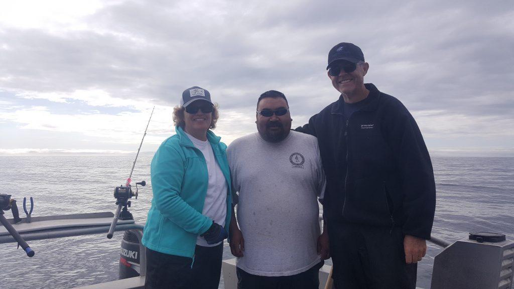 Kodiak fishing season 855-711-7773 Lisa Conrad and Bill